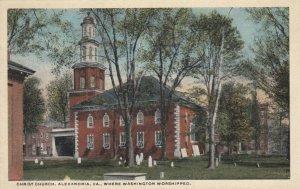 ALEXANDRIA, Virginia, 1900-10s; Christ Church, Where Washington Worshipped