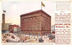 Advertising Post Card Nelson C Austin, Royal Tailors 5th Ave & Polk St. Chica...