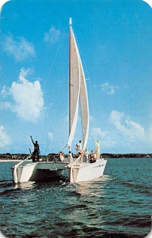 Christiansted St Croix Virgin Islands Catamaran Sailboat Postcard J76242