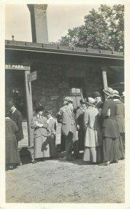 Postcard RPPC Town Gathering