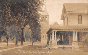 Kentland IN~Trinity United Methodist Episcopal Church (Razed) Big Home~RPPC 1912