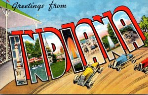 Indiana Greetings Large Letter Linen