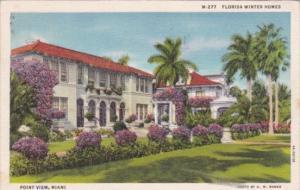 Florida Winter Homes Point View Miami Florida 1936 Curteich