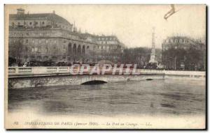 Floods Old Postcard From Paris The Pont au Change January 1910