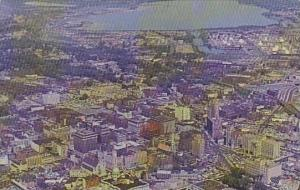 New York Syracuse Air View OF The City Showing Onondaga Lake In Background
