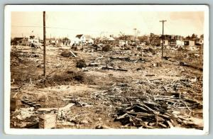 Pryor Oklahoma~Tornado Damage East Part~Bought on Street~I am OK~May 1942 RPPC