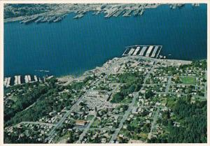 Washington Port Orchard Harbor On East Side Of Puget Sound Aerial View