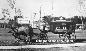 Minden, Nebraska, NE, USA Postcard The Horse Drawn Hearse of 190, Pioneer Vil...