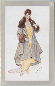 ELEGANT VINTAGE POSTCARD: Glamour, Ladies, Donnine, Artist Signed by ELDA CENNI