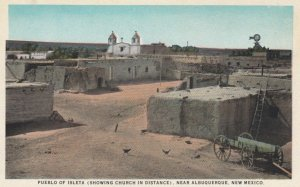 ALBUQUERQUE, New Mexico, 1900-10s; Pueblo of Isleta ( Showing Church in Dista...