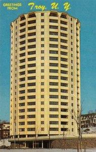 TROY, NY John F. Kennedy Towers New York c1960s Vintage Postcard
