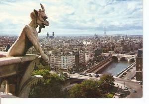 Postal 040516 : Paris. Le Diable fue des Tours Notre-Dame