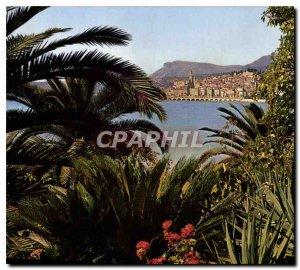 Postcard Modern Riviera Menton M general view