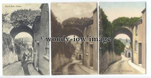 tb0154 - Devon - Old Gateway - Totnes - 3 postcards