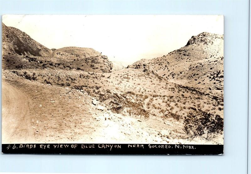 Postcard NM Blue Canyon Near Socorro Birdseye View RPPC Real Photo c1920s L15