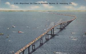 ST. PETERSBURG, Florida, 1930-1940´s; Aerial View of Sunshine Skyway