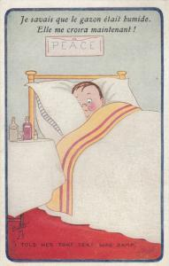 AS; PARLETTE, 1900-10s; I Told Her That Seat Was Wet, Man in bed, TUCK 8674