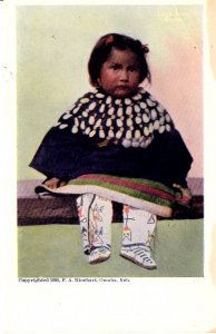 Native American Little Girl - by artist F.A.  Rinehart, Omaha Nebraska - 1905