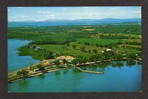 VT Aerial View of SOUTH HERO VERMONT Postcard PC