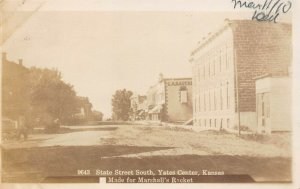 LP28 Yates Center  Kansas RPPC  Postcard State Street South