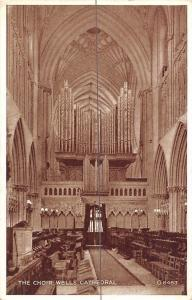 Wells Cathedral, The Choir Interior Photo Brown