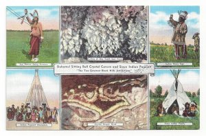 6-Views, Duhamel Sitting Bull Crystal Cavern & Sioux Indian Pageant, 2 Black ...