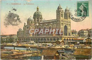 Old Postcard Marseille La Cathedrale