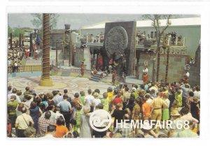 Hemisfair Los Voladores Flying Indians San Antonio 1968 Worlds Fair Postcard