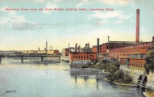 12760   MA Lawrence 1920´s Merrimac River  Duck Bridge (looking west)