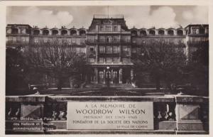RP, Le Palais Des Nations Et Plaque Commemorative Wilson, Woodrow Wilson, Gen...