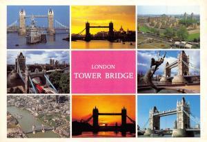 London Postcard, Tower Bridge, Multi View by Thomas Benacci Ltd O78