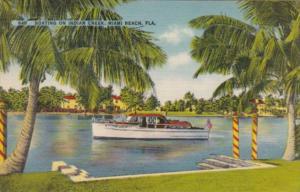Florida Miami Beach Boating On Indian Creek
