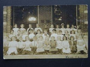 USA School Class Photograph c1908 RP Postcard Postmark SPRINGFIELD MASSACHUSETTS
