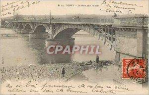 Postcard Old Bridge Vichy Allier