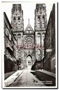 Old Postcard Clermont Ferrand to the Cathedral Portal