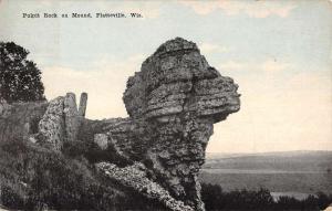 Platteville Wisconsin Pulpit Rock On Mound Antique Postcard K71980
