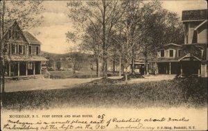 Mohegan NY Post Office & Road House c1905 TUCK Postcard