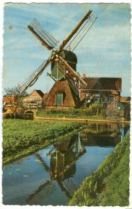 Holland, Netherlands, Hollandse Mollen, Dutch Windmill, 1973 used Postcard