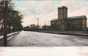 Main Drive To Rock Island Arsenal, DAVENPORT, Iowa, PU-1916