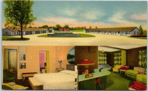 Lincoln, Nebraska Postcard Town and Country Motel 3 Views Roadside Linen 1950s
