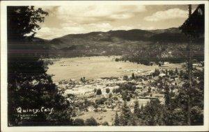 Quincy CA Birdseye View - Eastman Real Photo Postcard