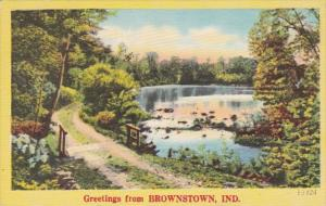 Indiana Greetings From Brownstown 1949