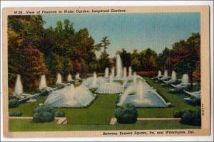 Fountain in Water Garden, Longwood Gardens,