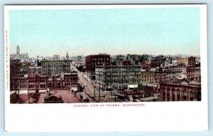 TACOMA, Washington WA ~ General View BIRDSEYE ca 1900s UDB  Postcard
