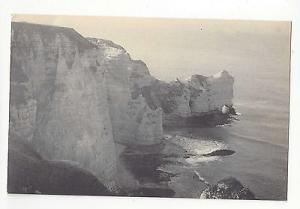 France Etretat Porte d'Amont et le Banc a Cuves Vtg Lucien Levy ca 1910 Postcard
