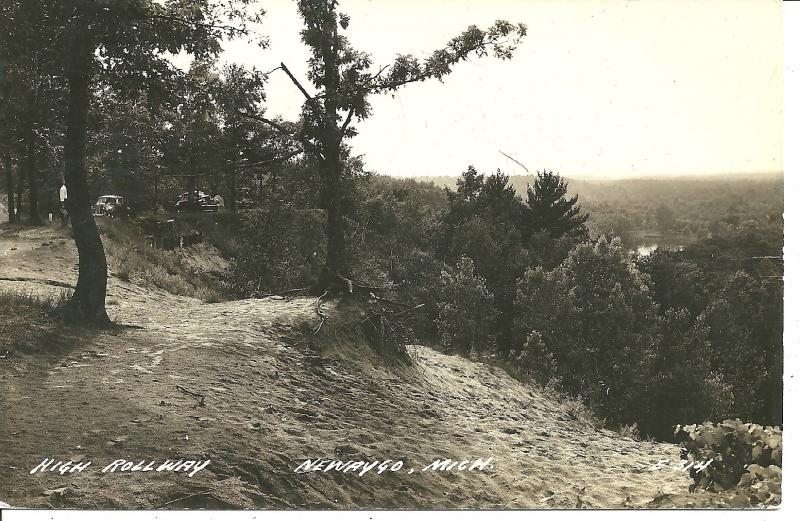 1945 High Rollway, Newaygo, Michigan - RPPC