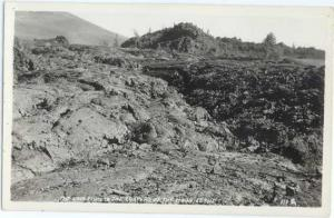 RPPC of Lave Flow in the Craters of the Moon, Idaho, ID, AZO RP 1924-1949