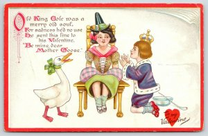 TUCK Valentine~Little Nursery Lovers~Old King Cole Proposes to Mother Goose~1910