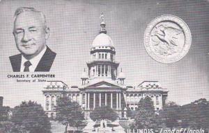 Illinois Charles F Carpentier Secretary Of State Land Of Lincoln 1958