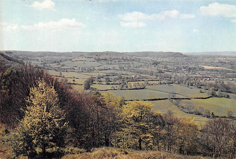 Severn Valley from Nympsfield, Gloucestershire Panoramic View